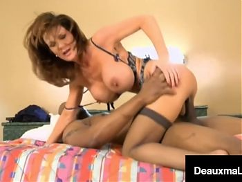 Airline Hostess Deauxma Mounts Big Fat Cock in Shitty Motel!